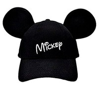 Disney Adult Mickey Mouse Baseball Cap With Ears Black