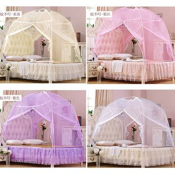 Summer Bedding Canopy Tent Insect Mosquito Net Netting Tent for Twin / Full / Queen / King Size Bed
