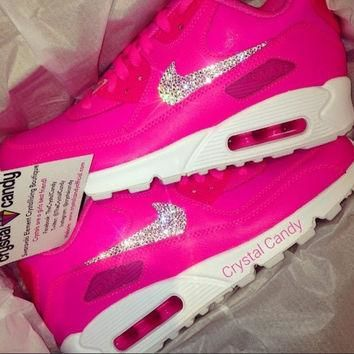 Crystal Nike Air Max 90 s in Barbie Pink 9f7d7165fc2b