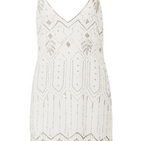 W118 by Walter Baker Gwen embellished crepe mini dress – 55% at THE OUTNET.COM