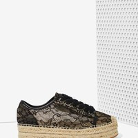 Windsor Smith Normandy Lace Espadrille Sneaker