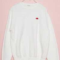 Erica CA Bear Embroidery Sweatshirt