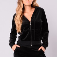The Original Trendsetter Velour Jacket - Black