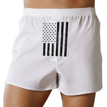 Stamp Style American Flag - Distressed Front Print Boxer Shorts by TooLoud