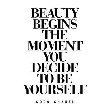 Digital Download Motivational Print Coco Chanel Quote Typography Poster Inspirational
