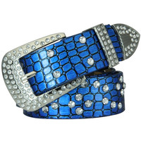 Fashion rhinestone leather belt unisex belts for men and women N81 = 1945966596