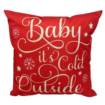 Winter Decorative Throw Pillow Cover