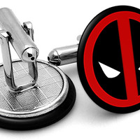 Deadpool Symbol Cufflinks