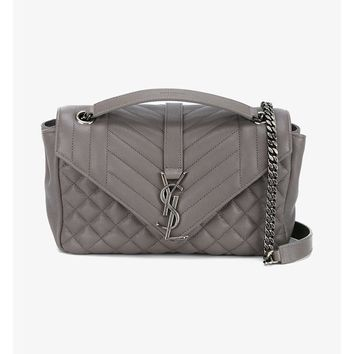SAINT LAURENT | Medium Quilted Leather Collège Bag | Womenswear | Browns Fashion