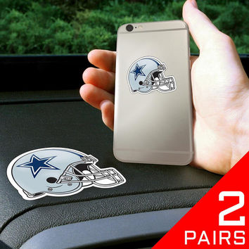 Dallas Cowboys NFL Get a Grip Cell Phone Grip Accessory (2 Piece Set)