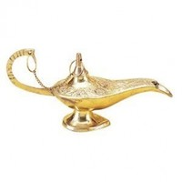 "Deco 79 09112 Brass Aladdin lamp 7"" L -"