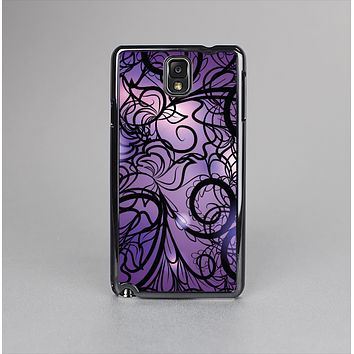 The Violet with Black Highlighted Spirals Skin-Sert Case for the Samsung Galaxy Note 3