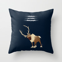 Sven // Frozen Throw Pillow by Lukas Emory