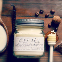 Turkish Mocha - Mason Jar Soy Candle - cocoa, cardamon, nutmeg, vanilla, honey, turkish coffee, milk