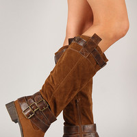 Madden-46 Buckle Riding Knee High Boot