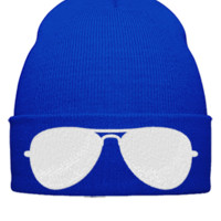 glasses w Bucket Hat - Beanie Cuffed Knit Cap
