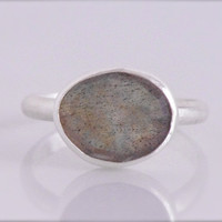 JAPAN RELIEF Labradorite Ring in Sterling by UmiDesign on Etsy