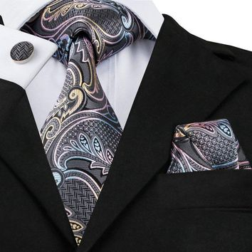 The Look Of Class  100%  Silk Tie Set
