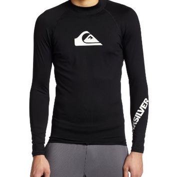 Quiksilver Men's All Time Long Sleeve Surf Shirt, Black, X-Large