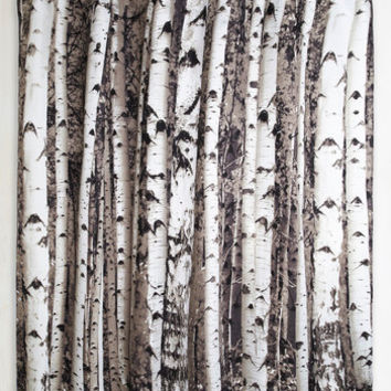 Beyond the Grove Shower Curtain in Winter Birch | Mod Retro Vintage Bath | ModCloth.com