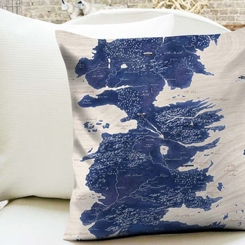 Game of Thrones World Map Pillow Cases