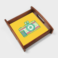 Camera Serving Tray | Artist : Palna Patel