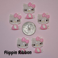 Hello Kitty Inspired Resins, 5 Pieces