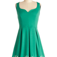 Mid-length Tank top (2 thick straps) A-line Bright This Way Dress