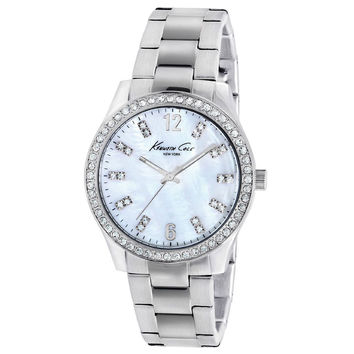 Kenneth Cole KC4894 Women's New York Crystal MOP Dial Stainless Steel Watch