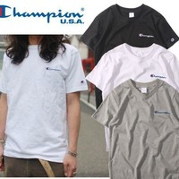 Champion Embroidered T Shirt