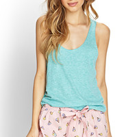 FOREVER 21 Ice Cream Sleep Shorts Pink/Multi