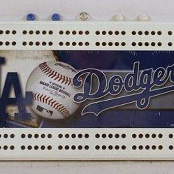 Los Angeles Dodgers MLB Licensed 2 Track Cribbage Board