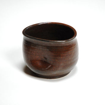 Yunomi,clay teacup,ceramic cup,wine tumbler,no handle mug,pottery dinnerware,red rust pottery cup,ceramic mug,espresso cup,brown mug,