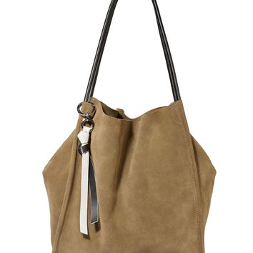 Green Suede Extra Large Tote