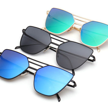 Flat Top Gold Sunglasses