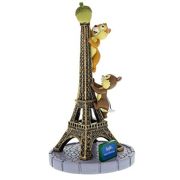 Disney Parks Epcot Paris Chip & Dale With Eiffel Tower Figurine New With Tags