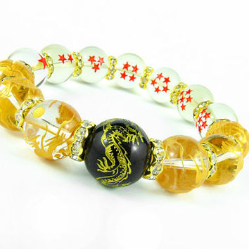 7 Dragon Balls, Dragon Ball Z, Goku Dragon Ball Power Bracelet, Shenron Bracelet, Dragon Ball Z Anime Jewelery, DragonBall Super Gift