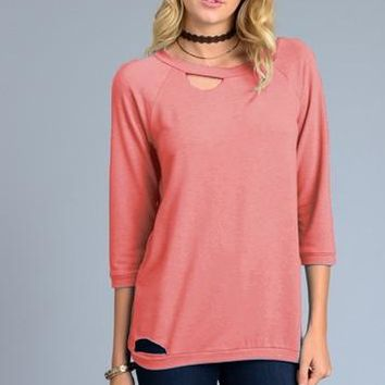 Loose Fit 3/4 Sleeve Top