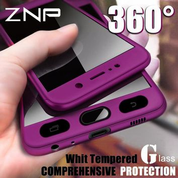 ZNP 360 Full Cover Phone Case For Samsung Galaxy S7 A3 A5 A7 J7 J5 2016 Case For Samsung A5 A7 2017 Protective Shell Case Cover
