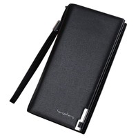 Men wallets small thin Long Bifold Business Leather Wallet Money Card Holder Coin Bag Purse