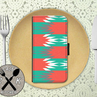 Tribal Style Pattern Aztec Tumblr Inspired Cute Custom Wallet Phone Case For iPhone 4 and 4s and iPhone 5/5s and 5c iPhone 6 and 6 Plus +
