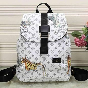 LMFON Perfect LV Louis Vuitton Leather Travel Bag Backpack