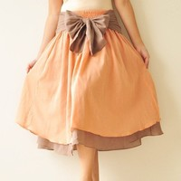 Wind of change Part II.... Orange-Brown Cotton Dress