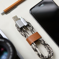 Unique Serpentine Leather Lightning Cable for iPhone 6s 6 plus Android + Gift Box 15