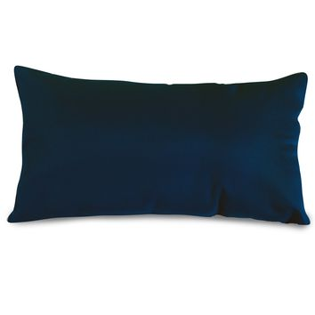 Navy Blue Solid Small Pillow