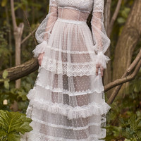 Neo-Romantic Tiered Long Dress | Moda Operandi