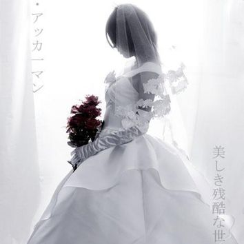 Cool Attack on Titan  Mikasa Ackerman cos Wedding Dress Cosplay Costume Halloween costume for woman custom made AT_90_11