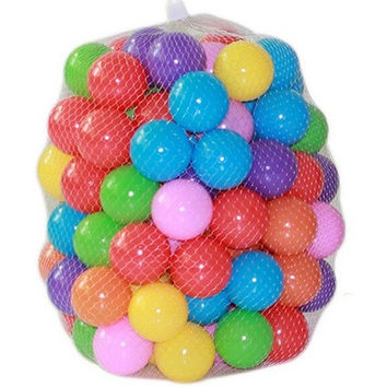 50pcs/lot Eco-Friendly Colorful Soft Plastic Water Pool Ocean Wave Ball Baby Funny Toys Stress Air Ball Outdoor Fun Sports