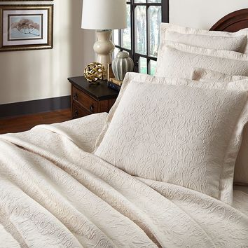 Villa by Noble Excellence San Marino Scrollwork Coverlet | Dillards