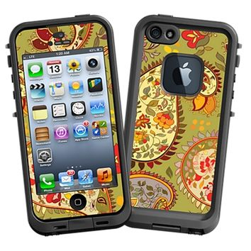 Organic Floral Sage Paisley for the LifeProof fre iPhone 5/5S Case by skinzy.com